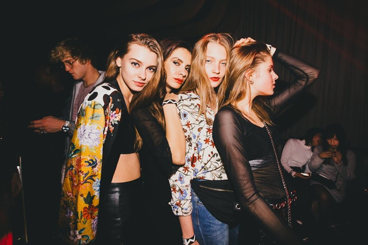 1oak nightclub Tokyo pretty girls having fun in sexy dresses