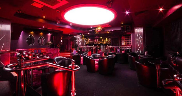 Party at 50 Mayfair VIP nightclub in London