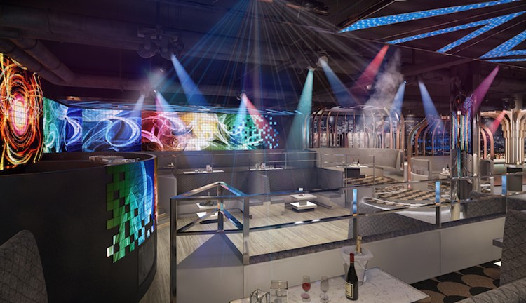 Avry nightclub Singapore view of the dj desk and dance area