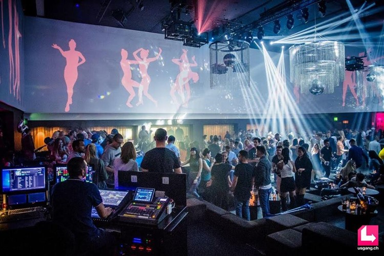 Aura Club nightclub Zurich people dancing dj mixing music fun party