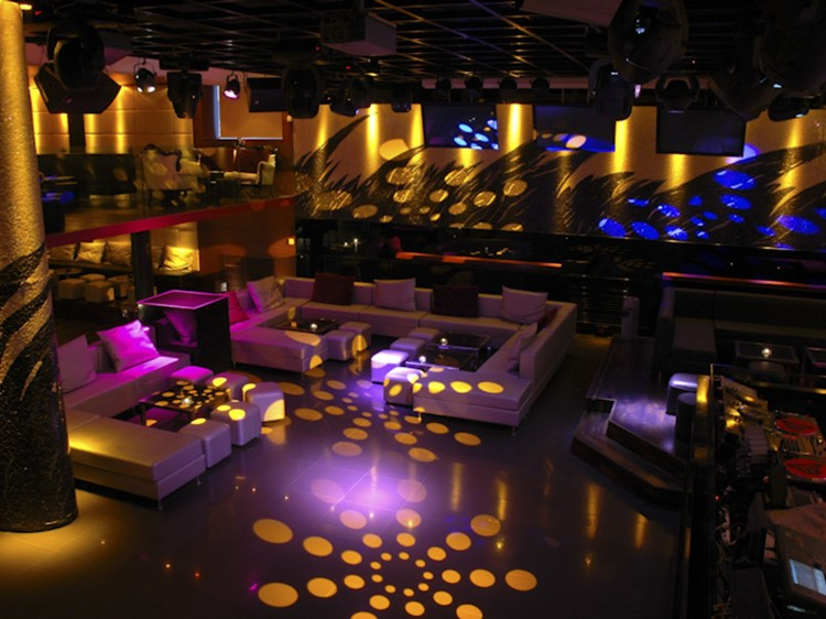 Bypass nightclub Geneva view of the empty club