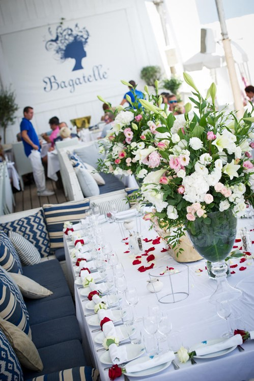 Party at Bagatelle Beach VIP nightclub in St Tropez