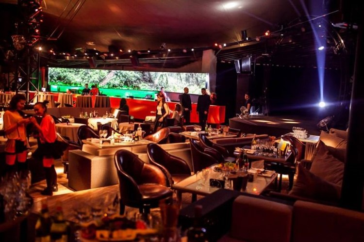 Party at Bessonica VIP nightclub in Moscow