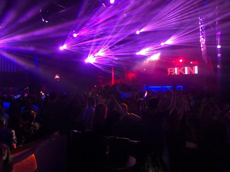 bikini nightclub barcelona full night party dancing people having fun