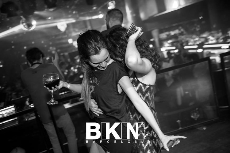 bikini nightclub barcelona pretty girls dancing and having fun drinking alcohol