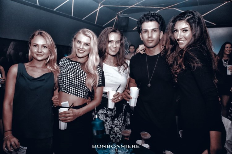 Party at Bonbonniere VIP nightclub in London