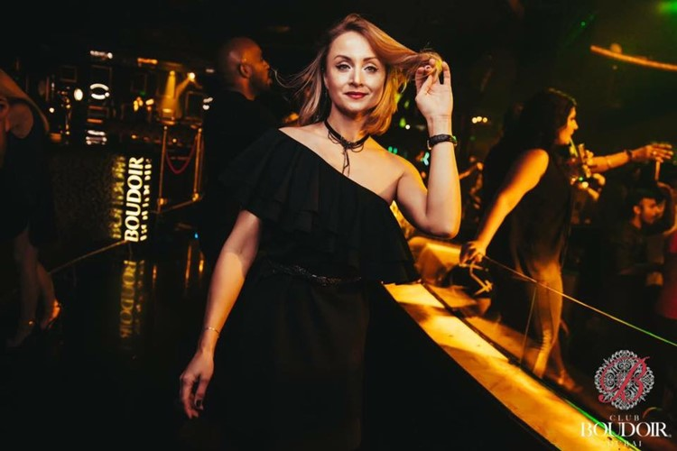 Boudoir Club nightclub Dubai girl dancing partying