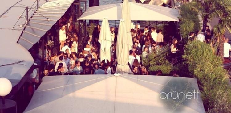Party at Brünett VIP nightclub in Paris