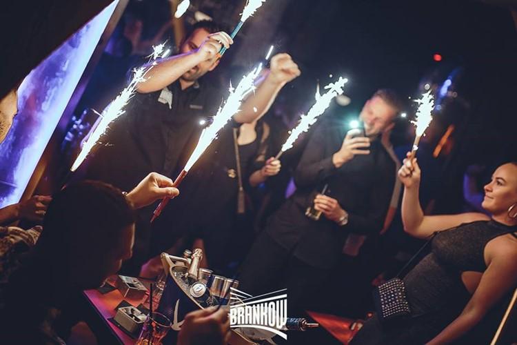 Brankow nightclub Belgrade table service bottle alcohol vodka champagne celebration
