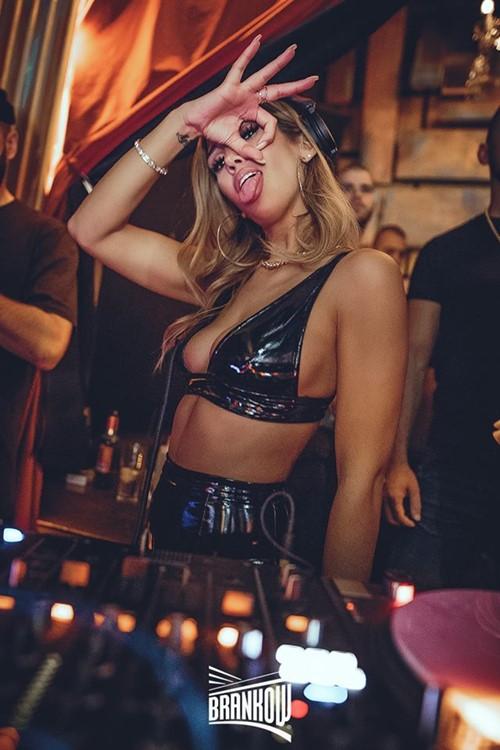 Brankow nightclub Belgrade sexy girl having fun dance music party