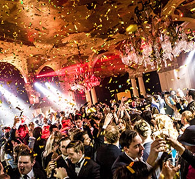 Party at Café Opera VIP nightclub in Stockholm