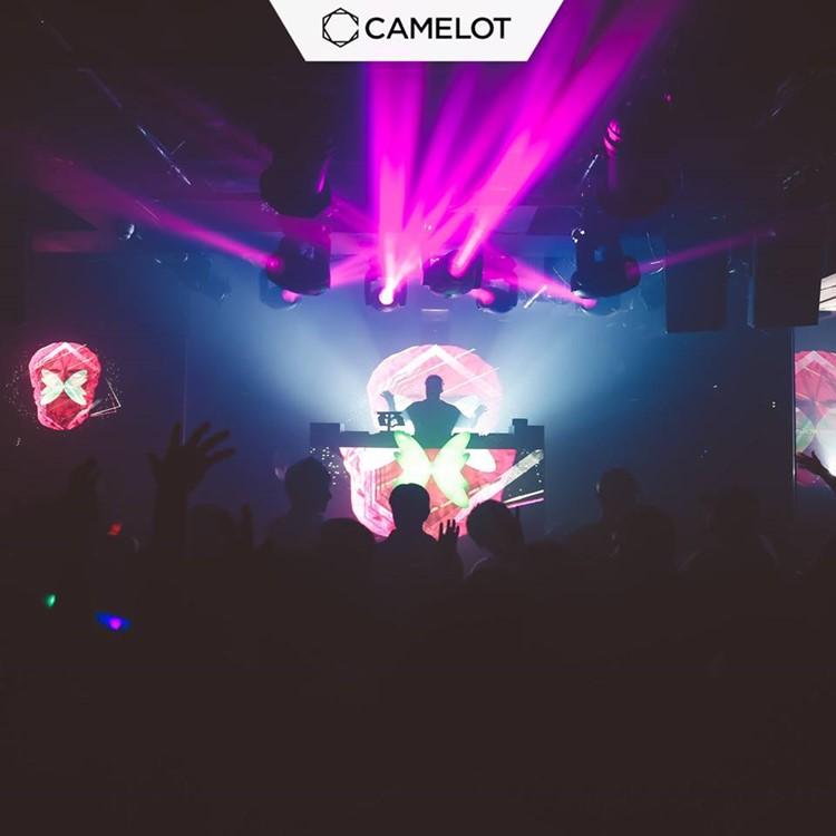 Camelot nightclub Tokyo dj mixing music people partying