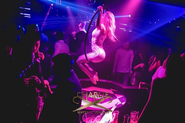 Party at Charlie Mayfair VIP nightclub in London