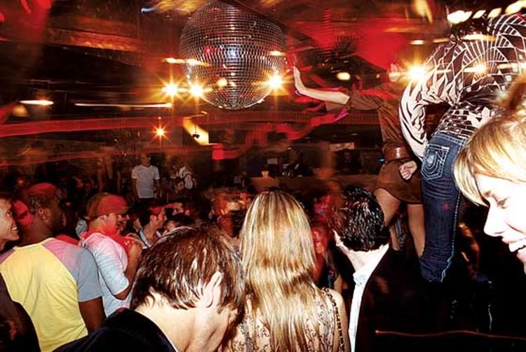 Cielo nightclub New York people dancing having fun drinking
