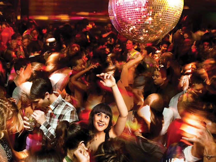 Cielo nightclub New York disco ball crowd dancing
