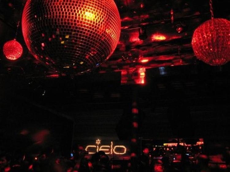 Cielo nightclub New York disco balls red lights