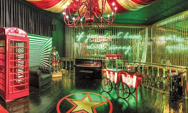 Party at Cirque Le Soir Dubai VIP nightclub in Dubai