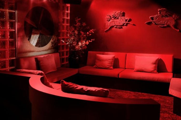 Club NL nightclub Amsterdam red lounge room