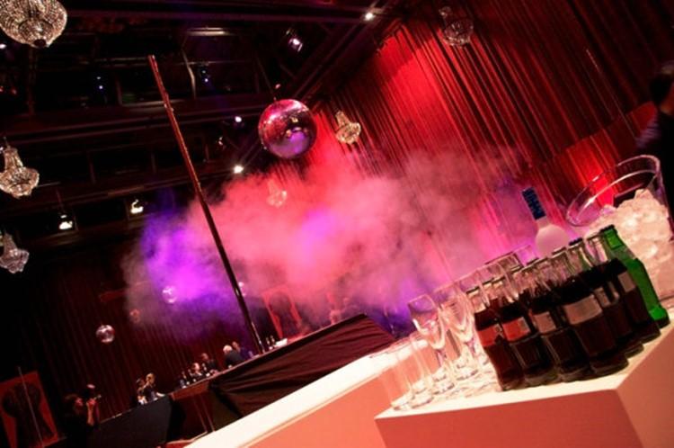 Club NL nightclub Amsterdam view of the dance floor pole bar