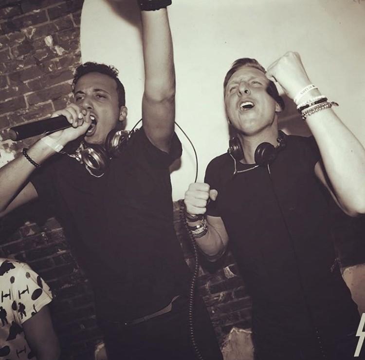 Club Nyx nightclub Amsterdam dj boys singing mixing music having fun