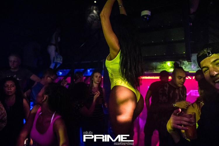 Club Prime nightclub Amsterdam sexy exotic dancer dancing in bodysuit