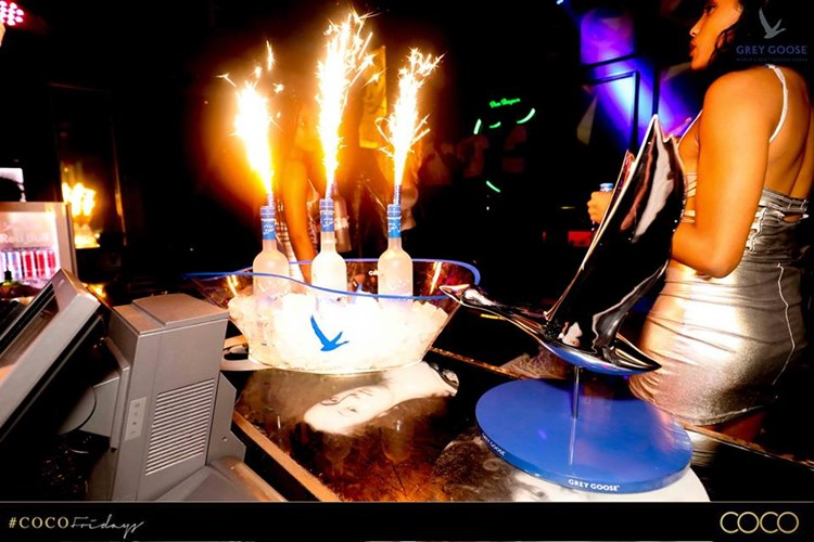 Coco nightclub club Cape Town party bottle service alcohol champagne vodka