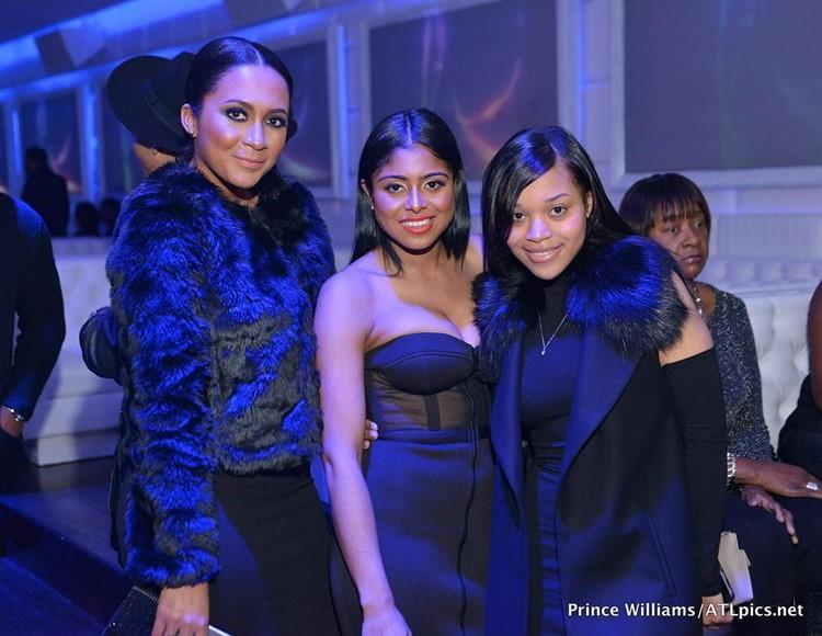 Compound Club nightclub Atlanta sexy girls in black dresses