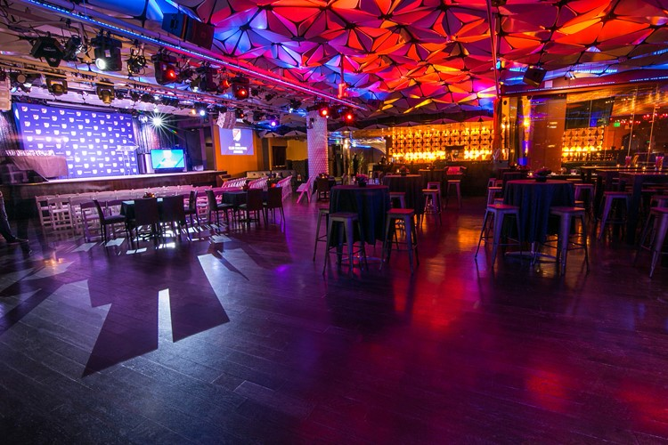 Party at Conga Room VIP nightclub in Los Angeles