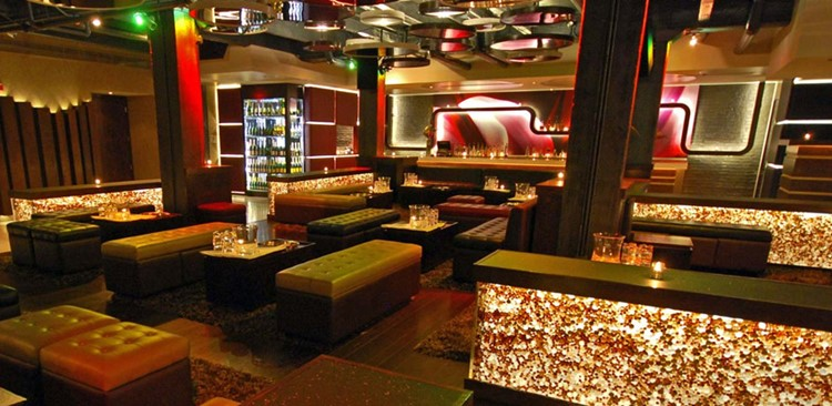 Cuvee nightclub Chicago view of the club bar lounge areas luxury interior design