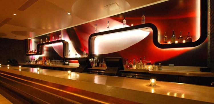 Cuvee nightclub Chicago view of the bar luxury interior design
