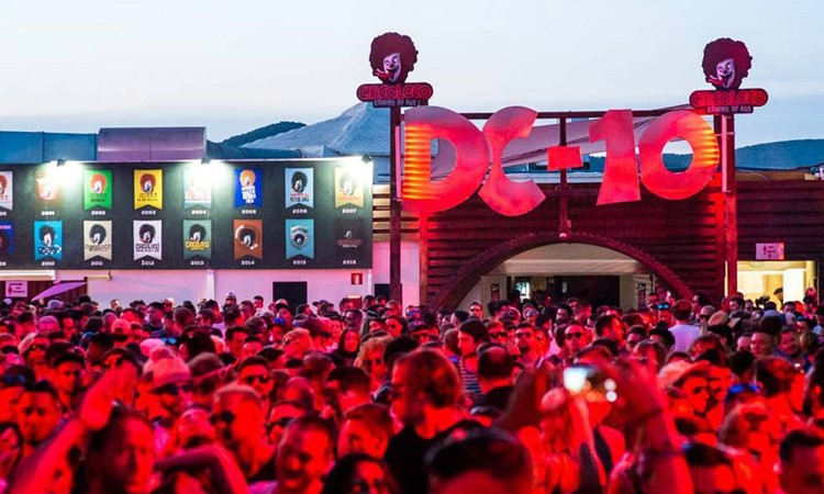 DC10 nightclub Ibiza outdoor event big crowd