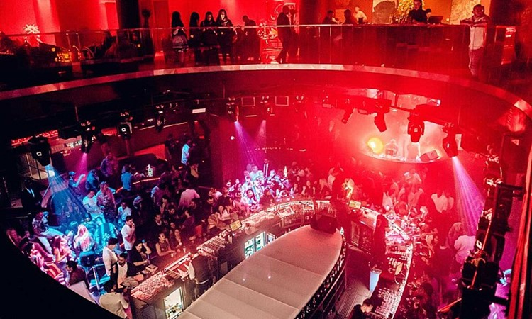 DOME nightclub Dubai view from the top of the club