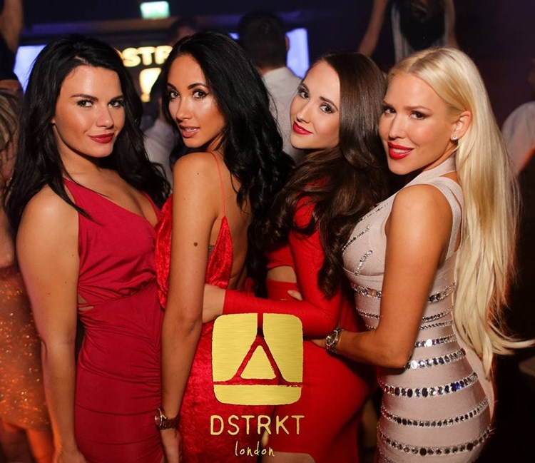 Party at DSTRKT VIP nightclub in London