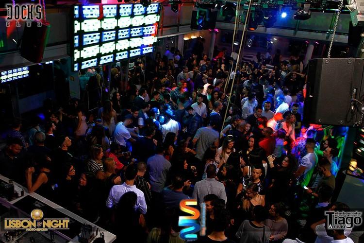Docks Club nightclub Lisbon crowd enjoying party