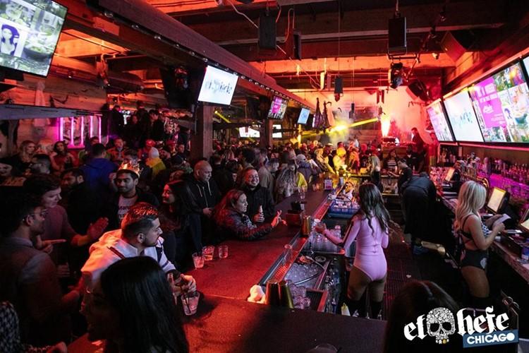 El Hefe sports club Chicago bar view bartenders girls fun party