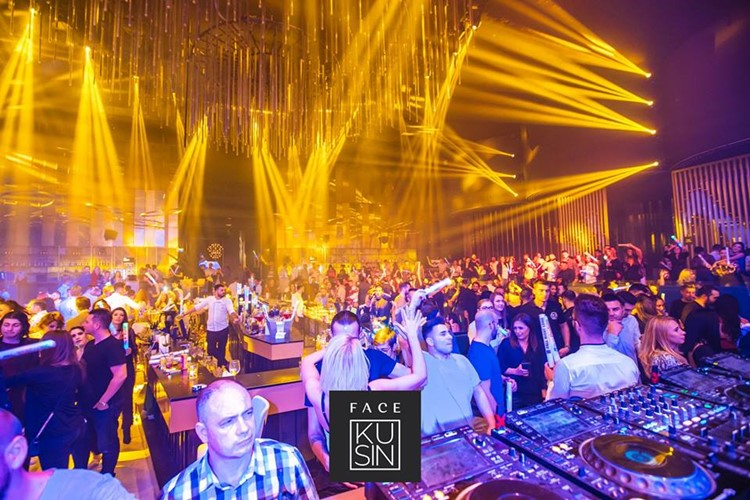 Face Club nightclub Bucharest big show event amazing lights effect people dancing