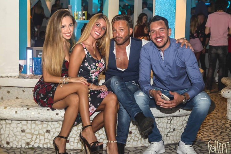 Fellini Club nightclub Milan girls and men drinking sexy