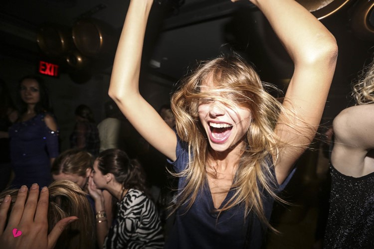 gilded lily nightclub new york pretty young blonde dancing and having fun at a party
