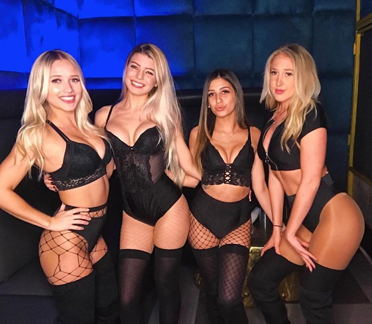 Gilt nightclub Orlando party sexy exotic dancers in black lingerie