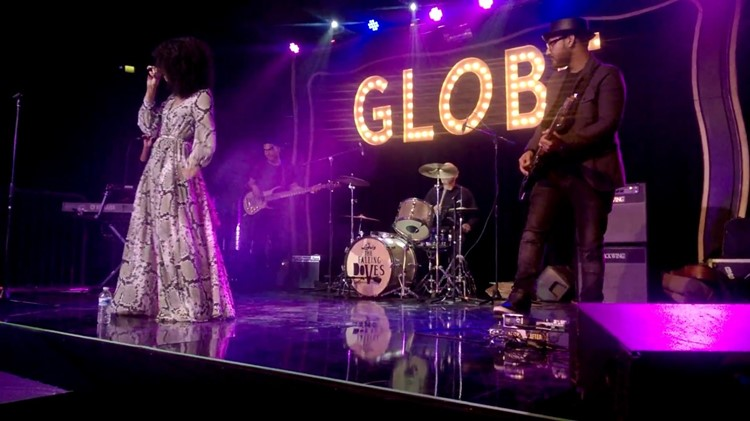 Party at Globe Theatre VIP nightclub in Los Angeles