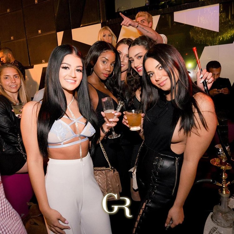 Gold Room Club nightclub Atlanta sexy pretty brunette girls having fun