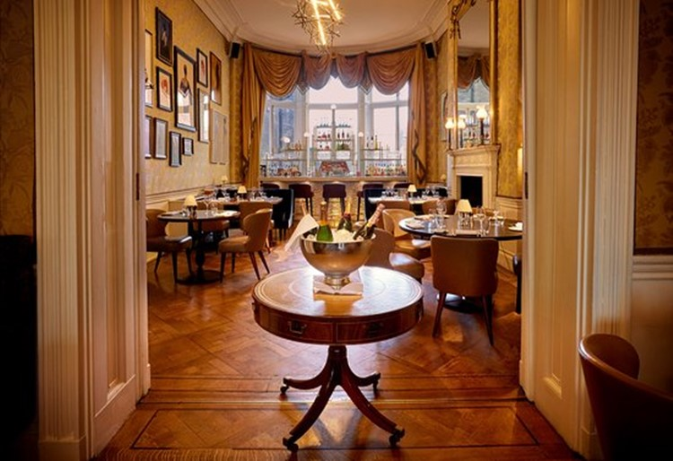 Home House private club in London view of the luxury interior design