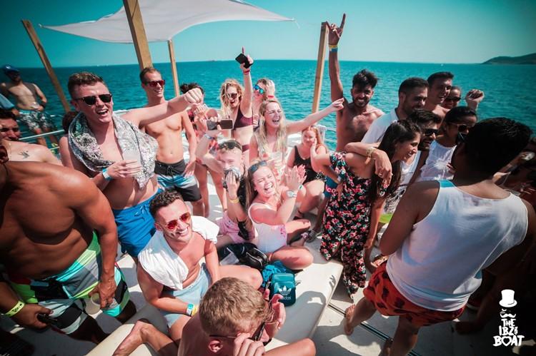 IBZ Boat Party Ibiza people drinking having fun