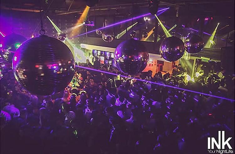 Ink nightclub Buenos Aires disco balls