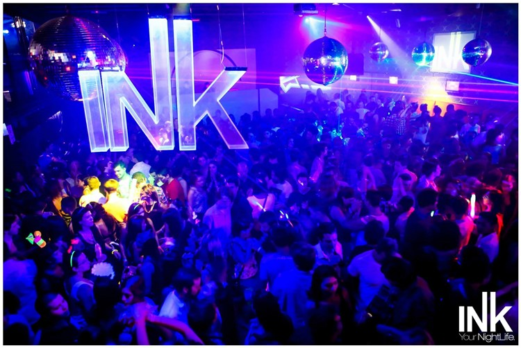 Ink nightclub Buenos Aires disco balls at big event