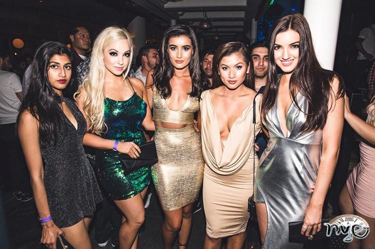 Ivy Club nightclub Sydney sexy girls in mini dresses partying dancing alcohol drinks