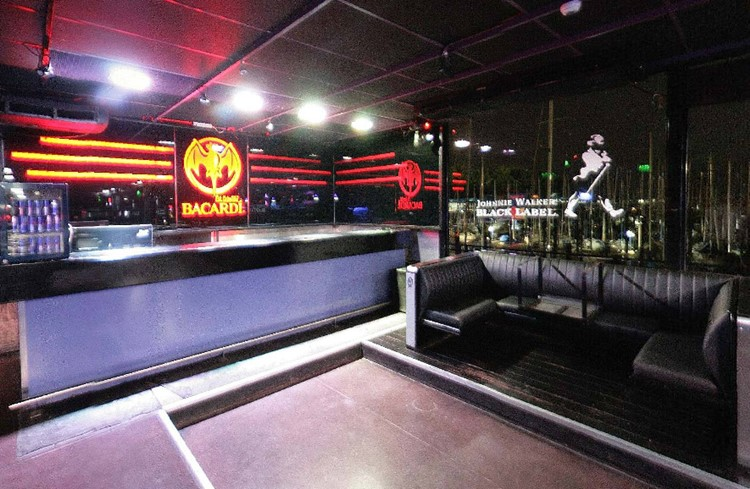 Jet nightclub Buenos Aires view of the lounge area bar luxury design table bookings