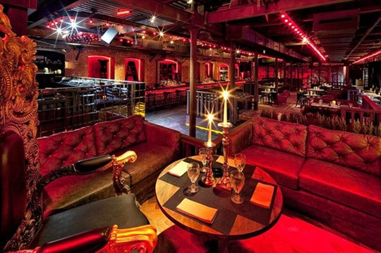 Jagger Bar nightclub Moscow view of the interior