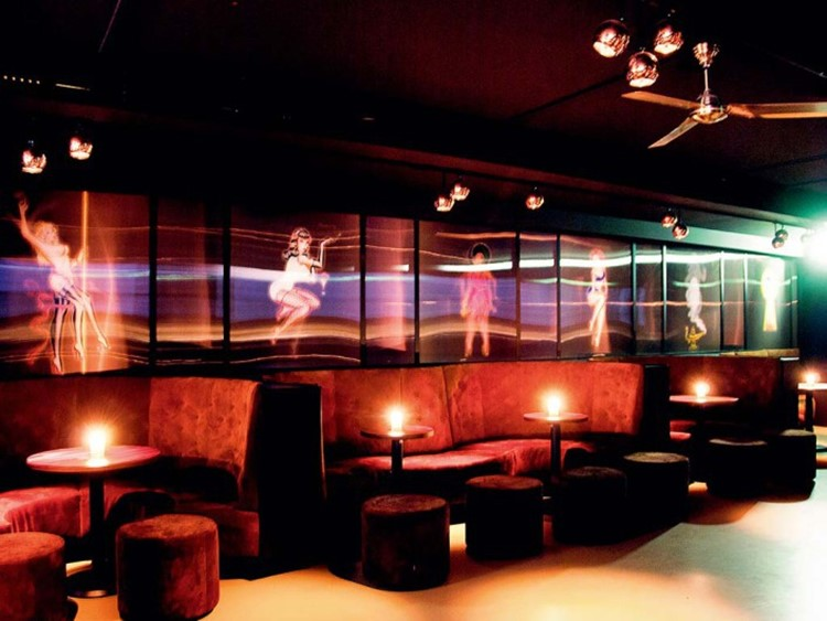 Party at Jimmy Woo VIP nightclub in Amsterdam