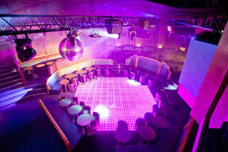 Party at Jimmyz VIP nightclub in Monaco